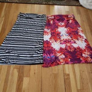A.N.A. petite foldover waist maxi skirts